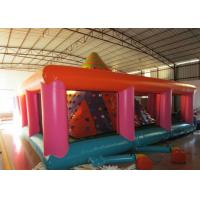 China Colourful Iceberg Floating Climbing Wall , Commercial Inflatable Rock Climbing Wall PVC inflatable climbing wall games for sale