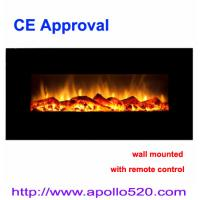 Wholesale Black Glass Wall Mounted Electric Fire from china suppliers