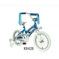 China blue paint children bicycle with colorful ribbon on sale