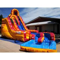 Wholesale Cool Largest Blow Up Water Slides Dash N Splash Fire Inflatable Qater Slide from china suppliers