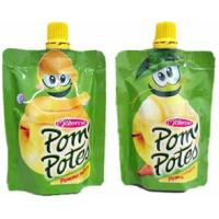 China 80ml 100ml 150ml Baby Food Pouch Liquid Spout Bags With Top Cap on sale