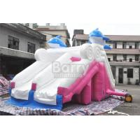 Wholesale 0.55mm Pvc Tarpaulin Material Dolphin Pink Inflatable Slide For Swimming Pool from china suppliers