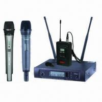 Quality 1x100 Channel PLL UHF Wireless Microphone System with 100dB Dynamic Range for sale