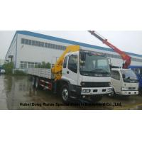 China ISUZU 5 Ton -14 Ton Truck Mounted Crane With Telescopic Boom And Knukled Boom for sale