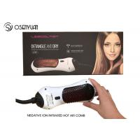 China Electric Power Infrared Hair Dryer Brush 50/60Hz With 360 Degree Swift Cord on sale