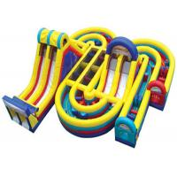 Quality Commercial Inflatable Obstacle Course , Giant Inflatable Assault Course For Adult for sale