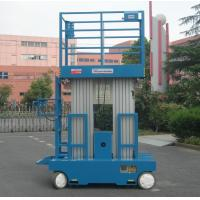 Quality Self - Propelled Aluminum Work Platform 8m Platform Height Dual Mast for sale