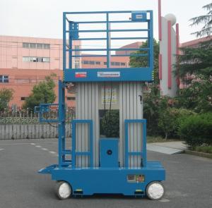 Quality Self - Propelled Aluminum Work Platform 8m Platform Height Dual Mast for sale