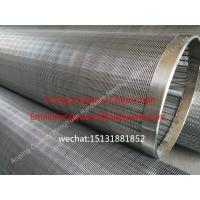 Wholesale 251mm Stainless Steel Johnson Type Wedge Wire Screen Tube Water Well Slot Pipe from china suppliers