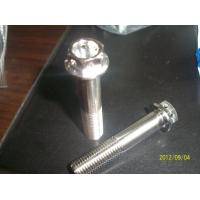 Wholesale TC4 GR5 alloy titanium flange hexagon screw from china suppliers