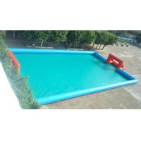 Quality Lagre Tarpaulin Inflatable Sports Games  , Blue Color Inflatable Football Court / Field for sale