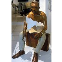 Wholesale Interior Landscape Design Bronze Statue Sitting Man Sculpture Long Life Time from china suppliers