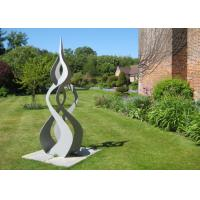Wholesale Swirl Abstract Metal Art Sculptures , Big Metal Sculptures For Home Decoration         from china suppliers