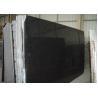 Pure Black Galaxy Granite Slab , Granite Worktop Slab High Hardness 2.8 Kg/Cm3 for sale