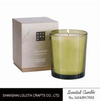 Wholesale Handmade Scented Soy Candles , Long Lasting Scented Candles In Green Clear Bottle from china suppliers