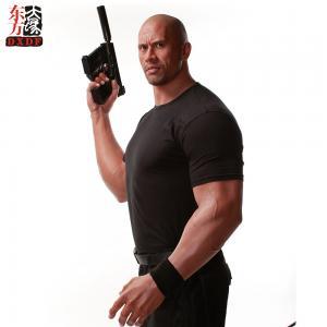 China Dwayne Johnson Muscle Man Life Size Wax Figure Statue on sale