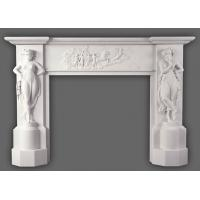 Wholesale New Design Natural Stone Yellow Fireplace Mantel from china suppliers