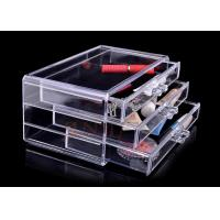 Wholesale Injection 3 Tiers Acrylic Makeup Display Stand , Plastic Organizer Drawers from china suppliers