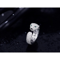 Wholesale luxury jewelry online VS Diamond N4225200 Panthere Cartier Ring With Emeralds Onyx from china suppliers