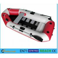 5 Person Inflatable Pool Boat , Blow Up Boat For Pool Outboard Motor Transom