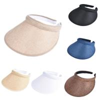 Wholesale Patches Panel Sun Visor Hat Outdoor Sports Running Golf Caps Metal Ring Closure from china suppliers