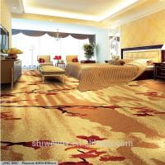 China Bedroom Modern Home Carpet / Cut Pile Nylon Carpet Red Plum Blossom Pattern for sale