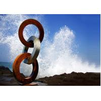 Wholesale Forging Technique Corten Steel Rings / Metal Ring Sculpture Multi Function from china suppliers