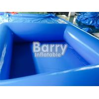 Quality Durable Blue Kids Square Inflatable Swimming Pool With Inflatable Water Toys for sale