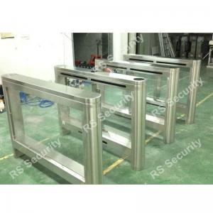 Quality Dual Swing Barrier Gate Turnstile High-end Establishments IR Sensor Pedestrian for sale