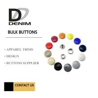 China Metal Shiny Lacquer Buttons And Snaps 4 Parts Painted Color DTM Fabric on sale
