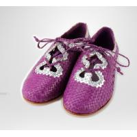 China 2015 stylish low heel shoes nice woven sandle shoes goat skin leather on sale