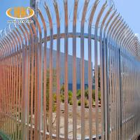 China 2700mm high 17 poles 275g/mm2 galvanized Palisade fence security Fence for sales on sale
