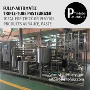 China 3000L/H Triple-Tube Heat Exchanger Tubular Sterilizer Sauce Paste Puree Pasteurizer on sale
