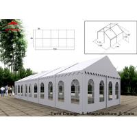 Wholesale UV Resistant White Commercial Event Tent With Windows , Span Width 3m - 40m from china suppliers