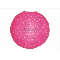 Wholesale Polka Dots Round Paper Lanterns , Indoor Party Pink And White Paper Lanterns from china suppliers