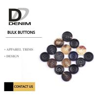 China Fashion Concaved Camel Round Button 24L Classic Pattern Horn Buttons For Suit & Jacket on sale
