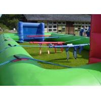 Wholesale Human Table Football Team Game , Green Inflatable Interactive Games 40x20Ft from china suppliers