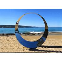 Famous Outdoor Decoration Ring Sculpture Stainless Steel Modern Polished
