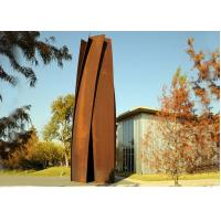 Wholesale Anti Corrosion Garden Art Corten Steel Sculpture Column Shape Rusty Finish from china suppliers