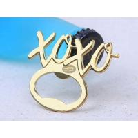 Wholesale Cool Innovative Zinc Alloy Gold Coating XOXO Men Women Blank with Engraved Logo Wedding Favor Gift Bottle Opener from china suppliers