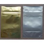 China Aluminum Foil Zip Lock Bag Plastic Seeds Packaging , Golden / Silver for sale