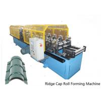 Wholesale Full Automatic Control 14 Stations Ridge Cap Roll Forming Machine For the Top of Warehouse of Separating Rainwater from china suppliers