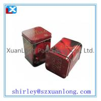 Wholesale square metal packaging tin can for tea from china suppliers