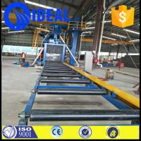 Wholesale high efficiency H beam steel roller conveyor  shot blasting machine with electric fuel from china suppliers