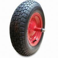 China Barrow Wheels with Air Tyre, Different Rim Colors are Available on sale