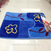 China Shaggy pattern polyester toilet mat set for bath for sale