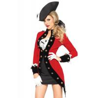 Wholesale Military Red Coat Womens Sexy Costumes  Halloween Party Dress from china suppliers