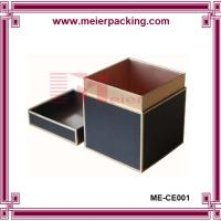 Wholesale paper candles gift box black candle boxes with silver logo printing ME-CE001 from china suppliers