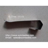 Wholesale Flat spring steel clips, sheet stamping steel parts, China stamping clip factory, from china suppliers