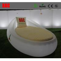 Wholesale Egg Shape LED Lounge Chair / Swimming Pool Side Sunbed With 16 Colors Available from china suppliers